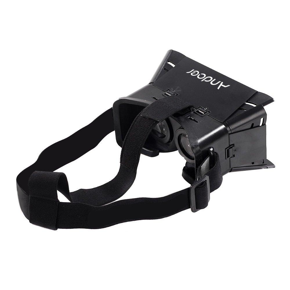Andoer® CST-01 universale 3D occhiali Vr realtà virtuale fai da te video Movie Game Vetri per iPhone Samsung 4-6 'Mobile Smartphone Google Oculus Rift Supporto capo con fascia 3MQ1418185203793V8