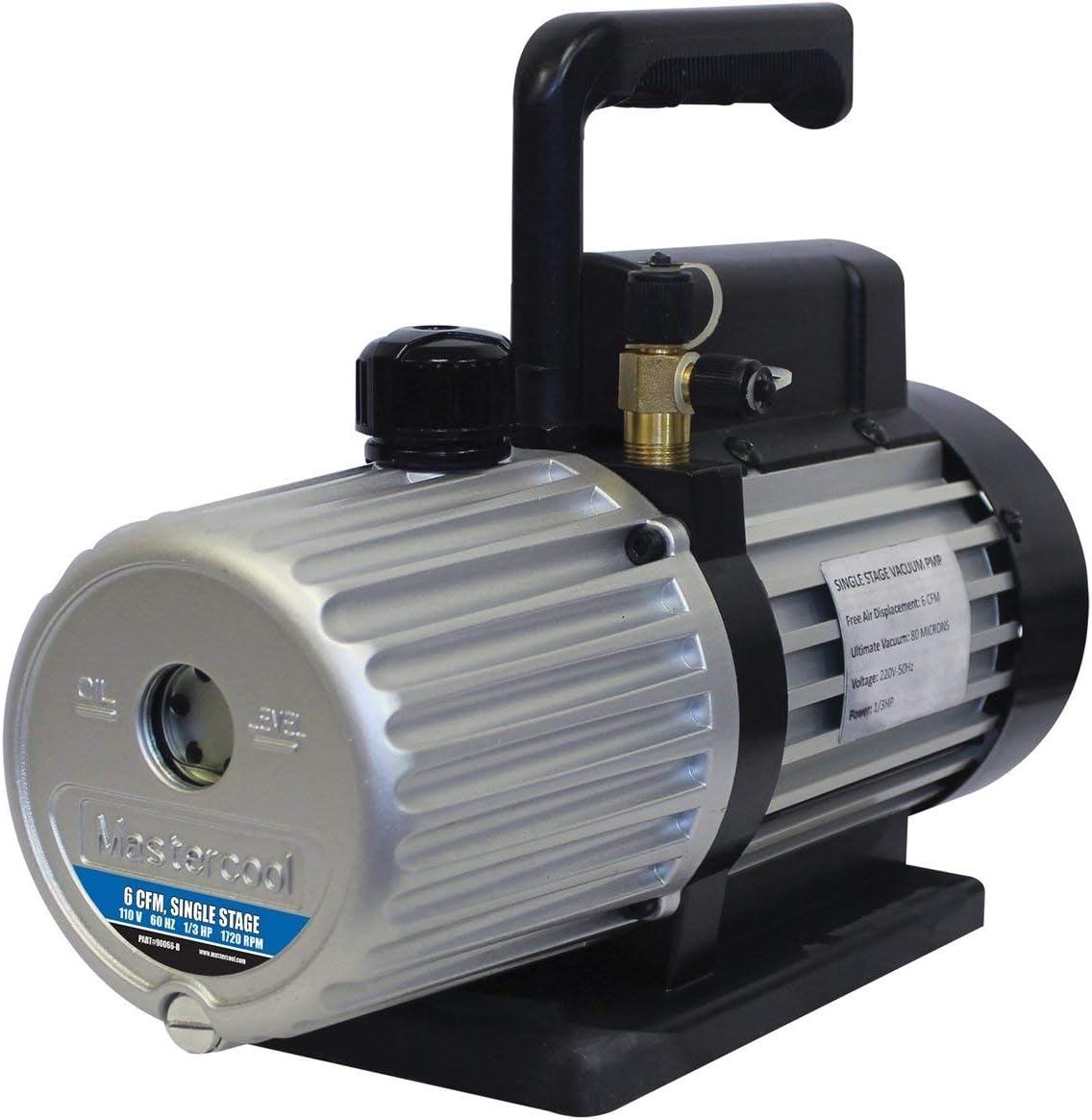Mastercool MSC90066-B-SF Vacuum Pump (Spark Free 6 Cfm For 1234Yf Systems), 1 Pack