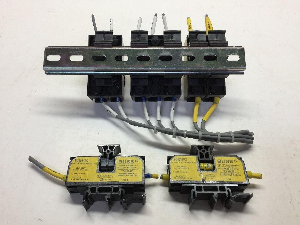 Bussmann Block Fuseholder (9 Each) BC6031PQ 30A 600V 75C Wire