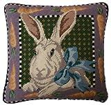 Deluxe Pillows Fancy Rabbit - 14 x 14 in. needlepoint pillow