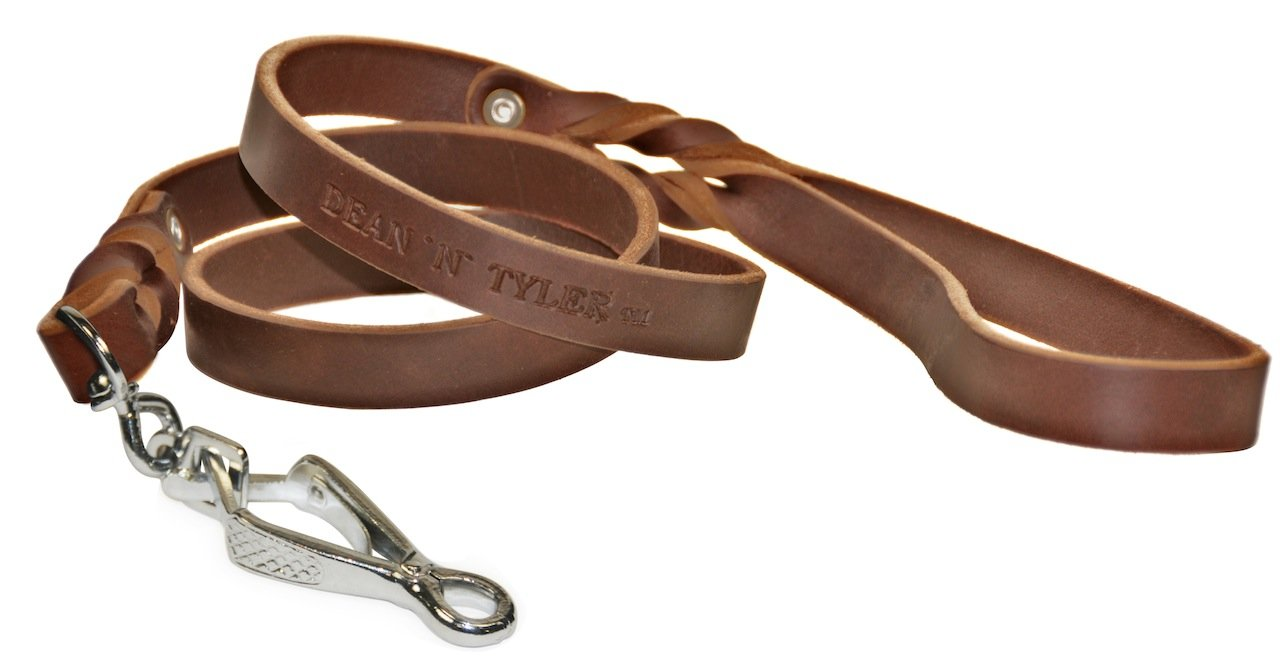 Dean & Tyler Love to Walk Dog guinzaglio con Herm Sprenger Hardware, rossoolo da 3 10,2 cm, Marronee