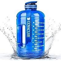 COVACURE Drinkfles Sport - 2,2 l / 3,78 l waterfles, grote sportfles, BPA-vrij, lekvrij, voor fitness, gym, thuis…