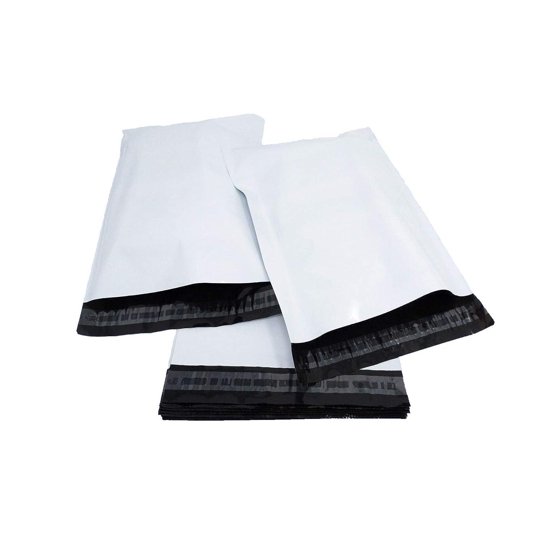 Lot de 50 sacs postaux en plastique blanc 32cm x 45cm Scellage de qualit/é en poly/éthyl/ène auto-adh/ésif 13 x 18