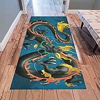 AnnHomeArt dragon Area Rug Runner Rug Modern Carpet 7x33