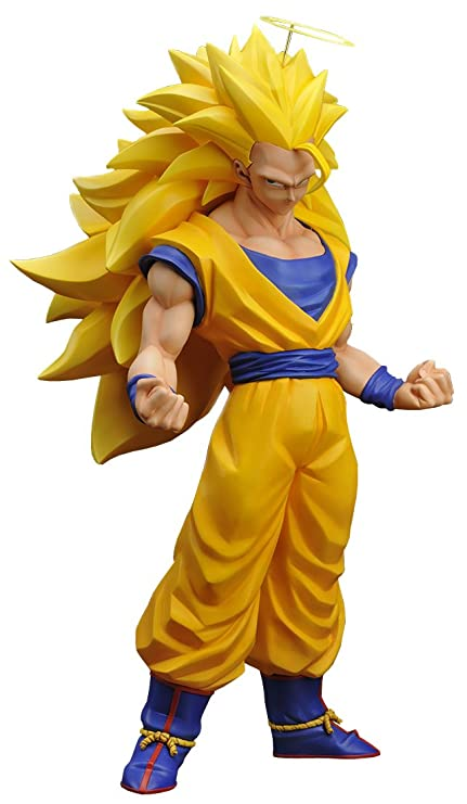 amazon com gigantic series goku super saiyan 3 pvc pre painted