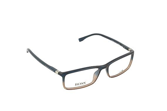 5a9ffaeb50 Amazon.com  Hugo Boss frame (BOSS-0680 TV4) Optyl Transparent Blue ...