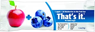 product image for Thats It Gluten Free Fat Free Individually Wrapped Apple Plus Blueberry Fruit Bar, 1.2 Ounce -- 144 per case.