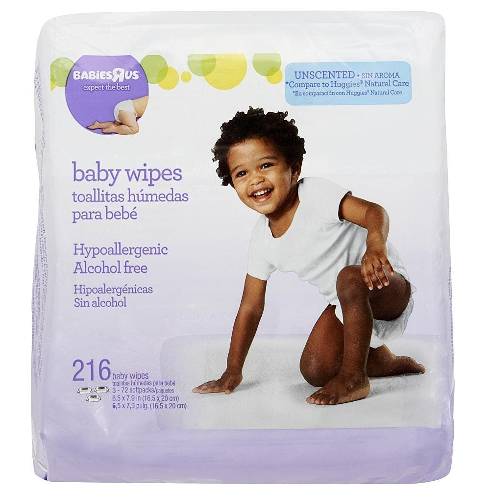 Amazon.com : Babies R Us Unscented Baby Wipes - 216 Count : Baby Bathing Products : Baby