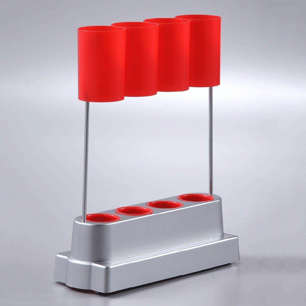 QFFL yusanjia クリエイティブワードローブハードウェア傘スタンド/クローク多機能調節可能な傘収納ラック/カラフルな傘アクセサリーバスケット(3色使用可能) 屋外傘立て ( 色 : 赤 ) B07CL7JXD3 赤 赤