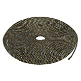 uxcell PET Expandable Braided Sleeving 32.8 Feet 10m Cable Wrap 4mm Diameter Wire Sheath Black,Golden