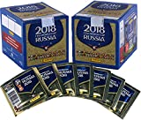 #4: Sports Memorabilia 2018 Panini World Cup Soccer Stickers Bundle with (2) Factory Sealed 50 Pack Boxes - Fanatics Authentic Certified