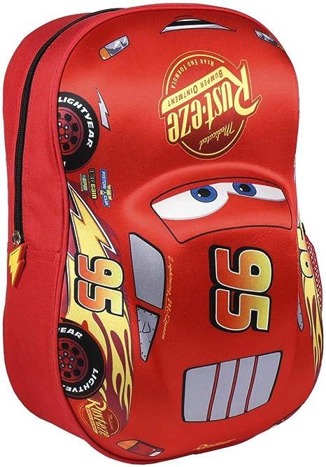 31 cm Artesania Cerda Mochila Infantil 3D Cars Sac /à Dos Enfants Rouge Rojo