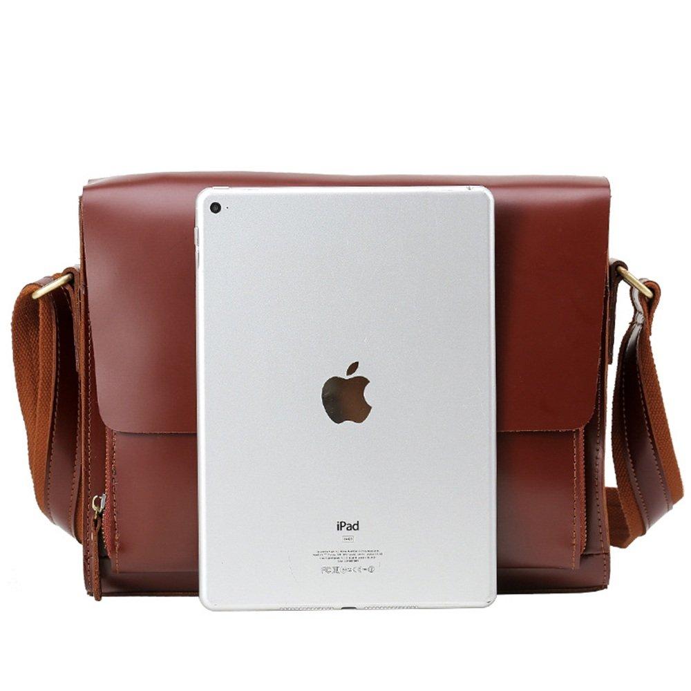 British Style Retro Bag Mens Diagonal Cross Bag Leather Shoulder Bag High-Grade Light Leather Dual-use Mens Bag Notebook Messenger Bag Shoulder Bag Casual Handbag
