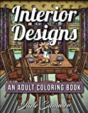 Interior Designs: An Adult Coloring Book with Beautifully Decorated Houses, Inspirational Room Designs, and Relaxing Modern Architecture (Relaxation Gifts)