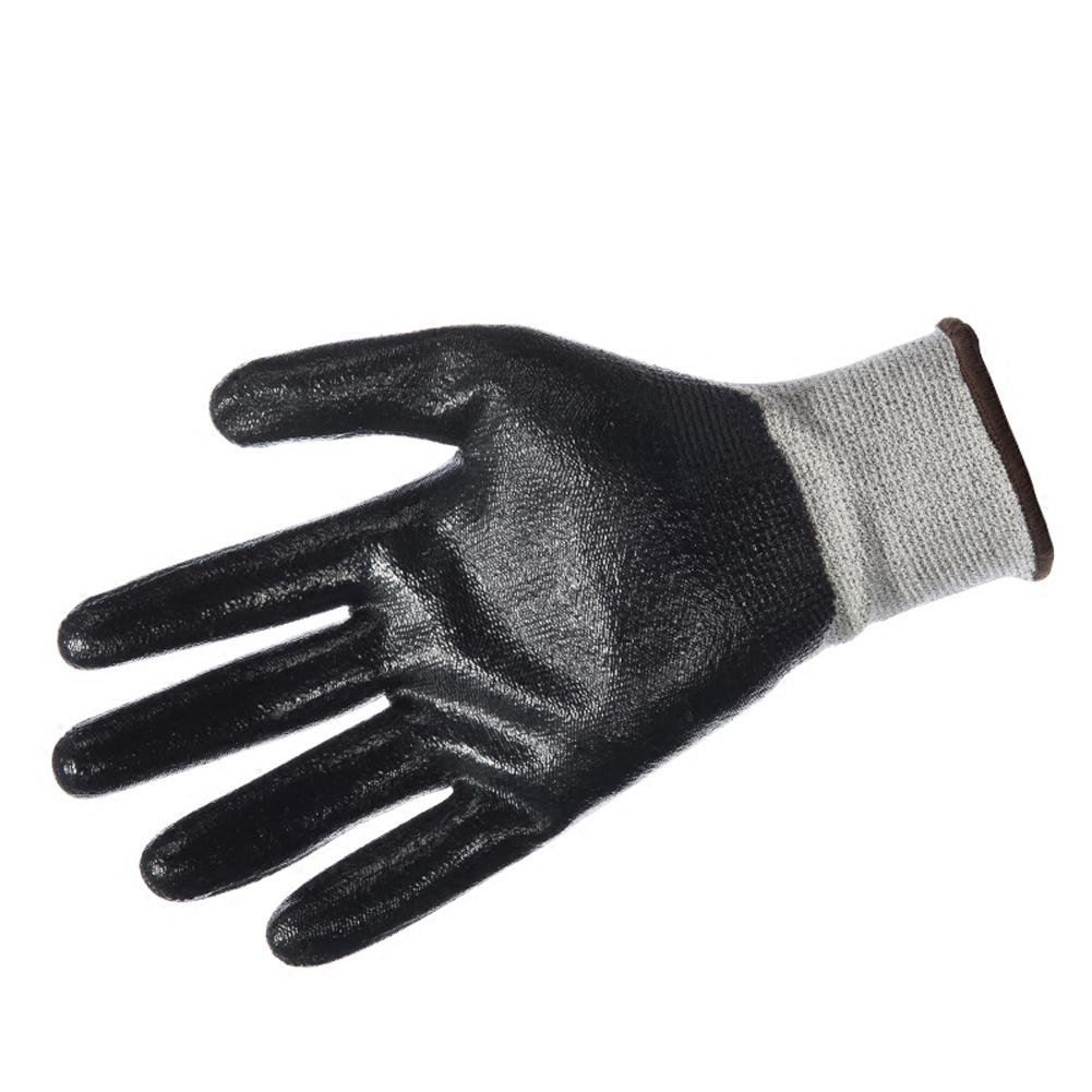 Handling physical work labor insurance professional anti-cutting gloves wear elastic breathable protective tool non-slip oil resistant nitrile / 3 double by LIXIANG (Image #4)