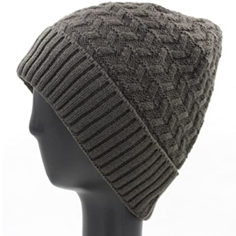 dcf39304f04 YXDDG Winter Hats Knit Cap Plain Knit Cold Cuff Cozy Long Oversized Beanie  Women