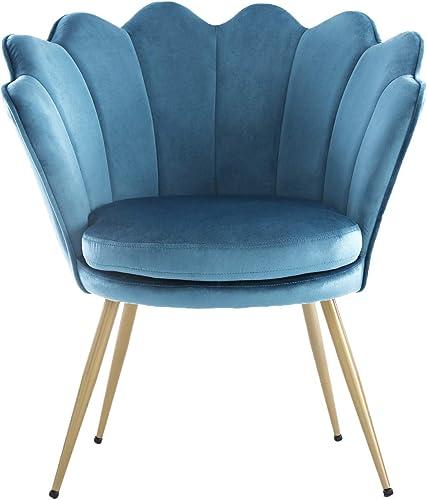 Reviewed: WQSLHX Azure Blue Velvet Chair