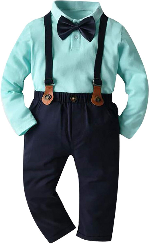 Formal Toddler Baby BoyS Gentleman Coat+Pants+Shirt Outfit Clothes Set Suit 3PCS