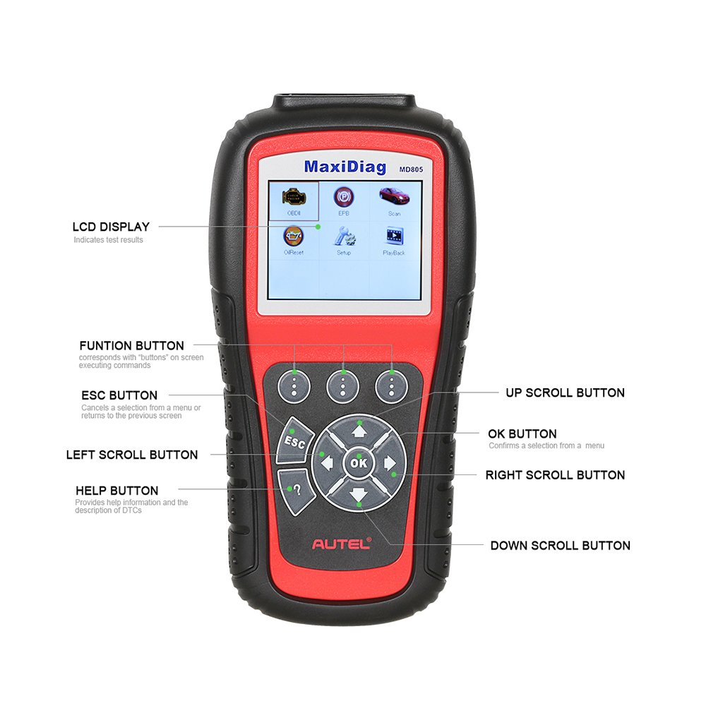 Autel MaxiDiag MD805 (Autel MD802)Scan tool All System Engine, Transmission, ABS, Airbag,EPB,OIL Service Reset & Electronic modules by Autel (Image #8)