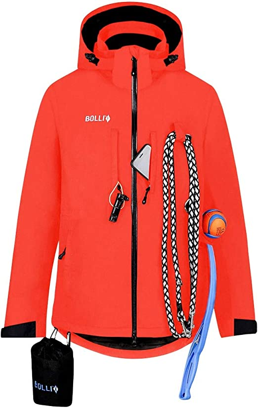 Pockets /& Features PFC Free Waterproof Clothes for Dog Walking BOLLI Dog Owner Utility Jacket w// 15