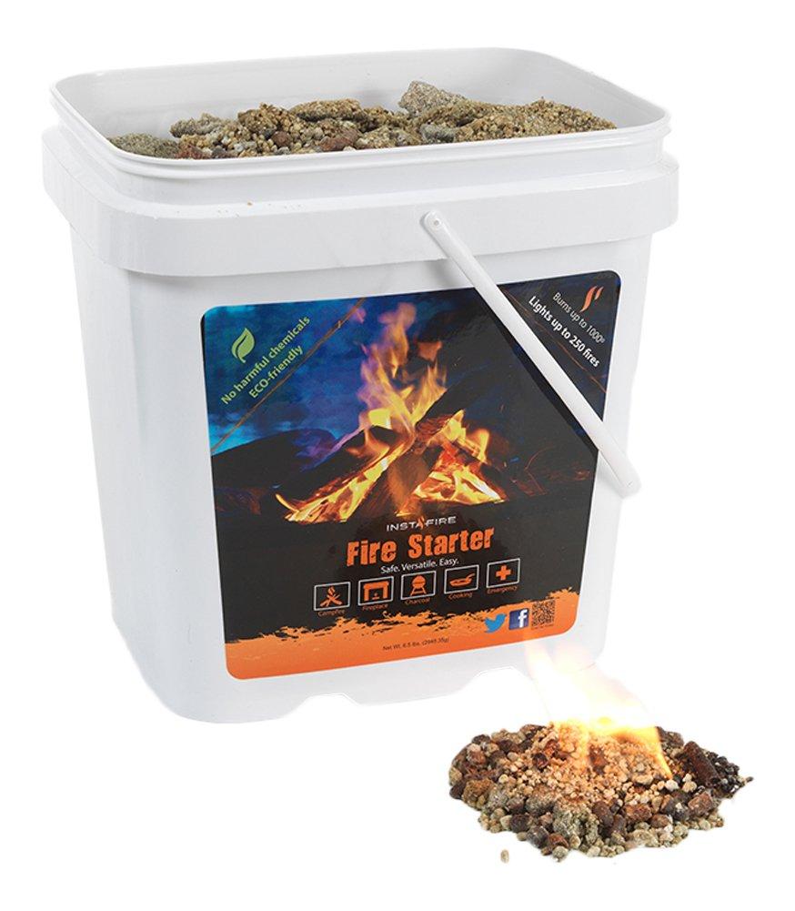 InstaFire Eco-Friendly Granulated Bulk Fire Starter Factory Seconds, 2-Gallon Bucket by Instafire