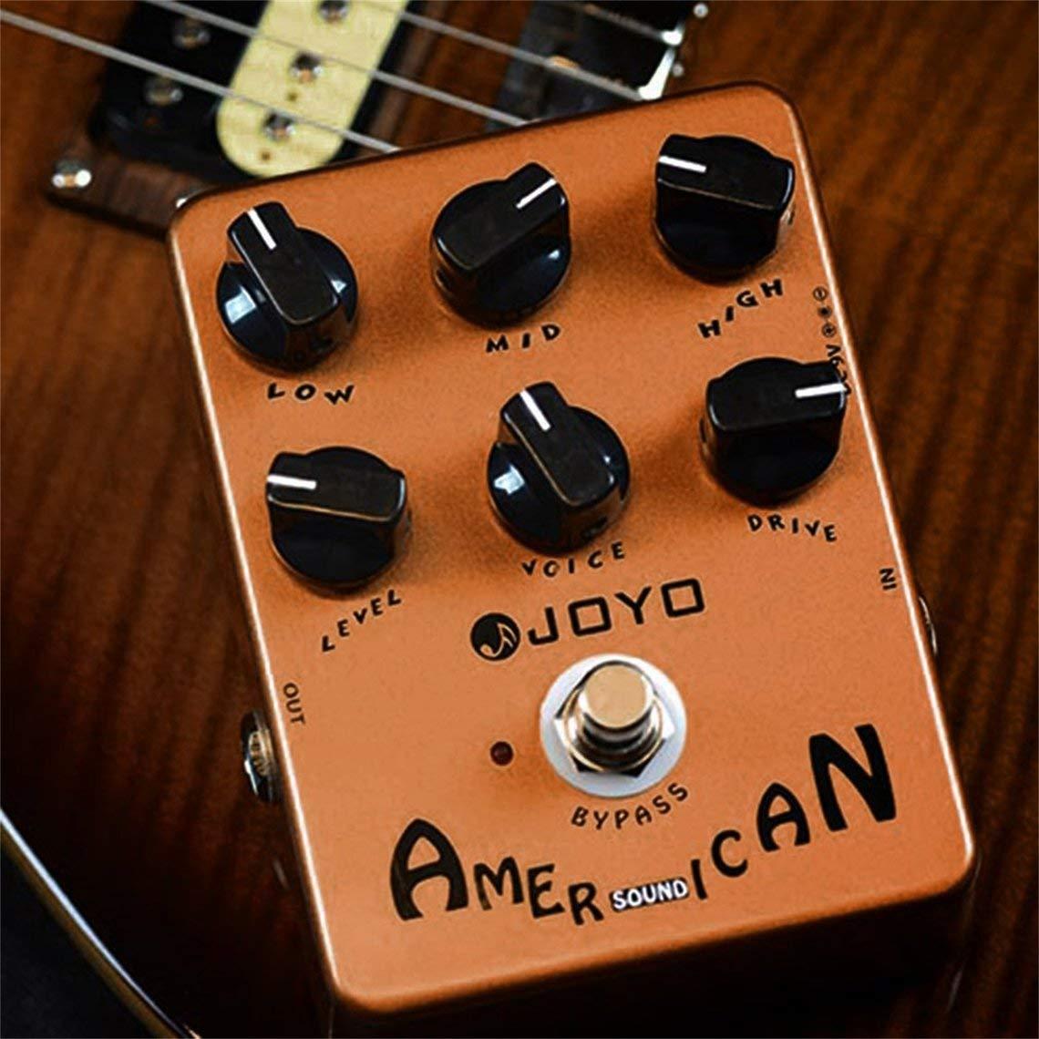 El Pedal de Efectos de Sonido Americano JF-14 Reproduce el simulador de Sonido Bajo eléctrico Compresión dinámica Efectos Fuente de Guitarra (Color: ...