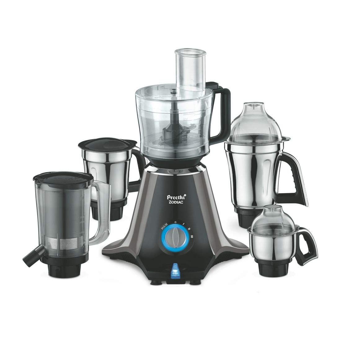 Preethi Zodiac MG 218 750-Watt Mixer Grinder with 5 Jars...