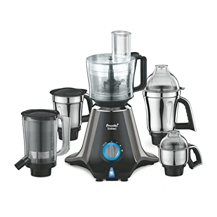 dac63331742 Buy Preethi Zodiac MG 218 750-Watt Mixer Grinder with 5 Jars (Black Light  Grey) Online at Low Prices in India - Amazon.in