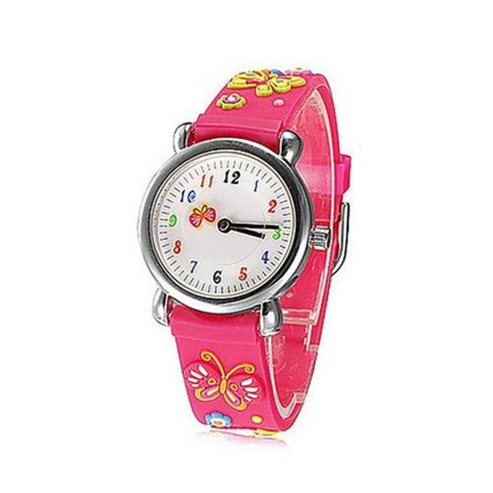Fashion Brand Quartz Wrist Watch Baby Children Girls Boys Watch Butterfly Design Waterproof Watches