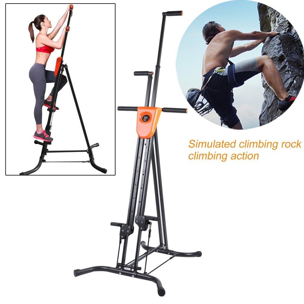 Vertical Climber Fitness Climbing Machine -Digital Display Foldable Vertical Climber Climbing Machine