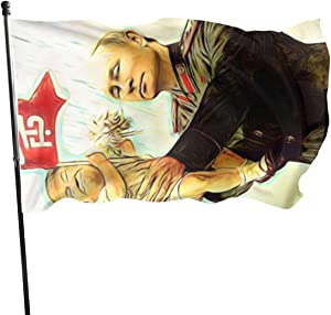 SMY Baby Trump Putin Home Garden Flag for Outdoor House Porch Welcome Holiday Decoration, Fit Chritmas/Birthday/Happy New, 3x5ft