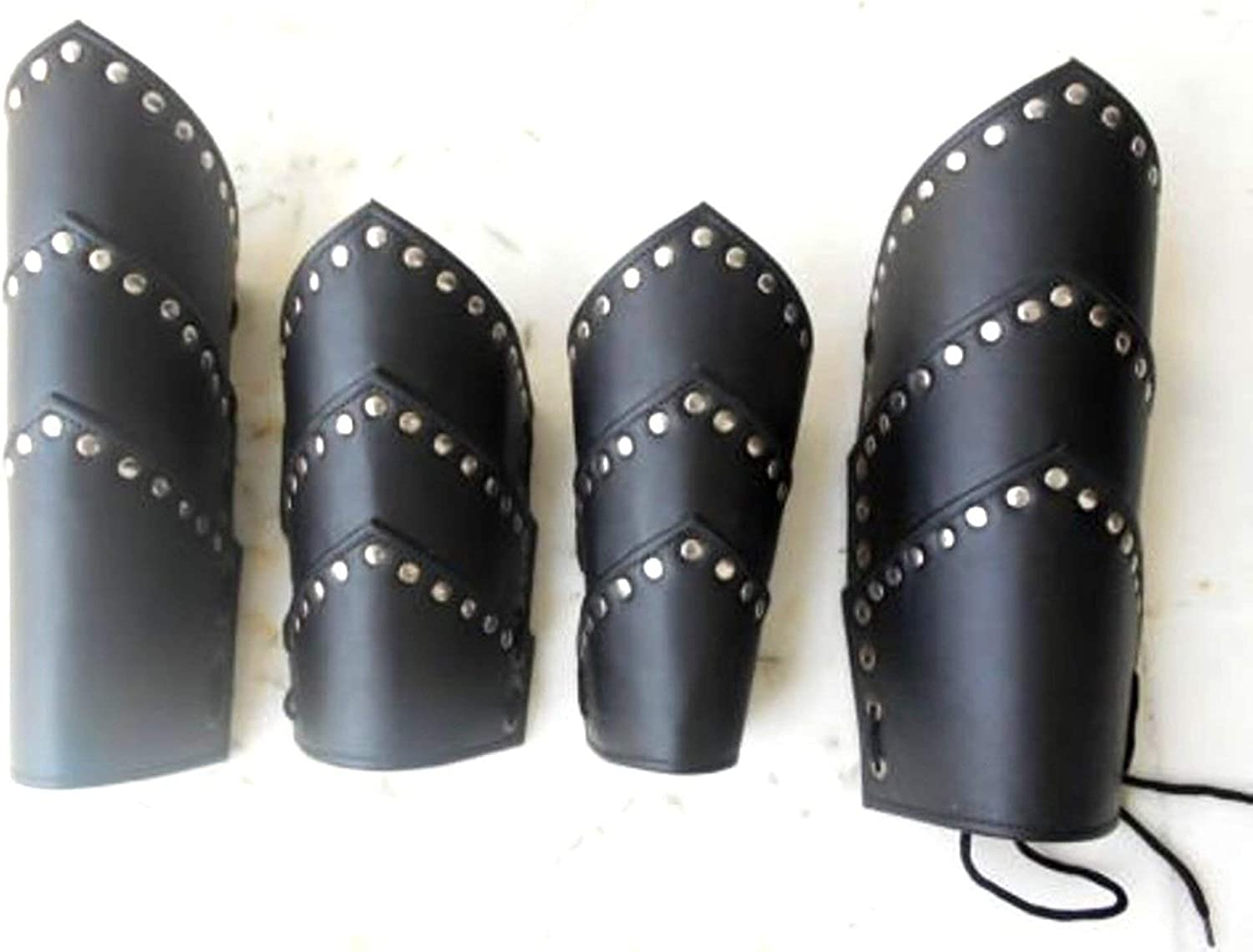 Leather Armor Leather Arm Guard with Brass Accent Medieval Roman Arm Guard