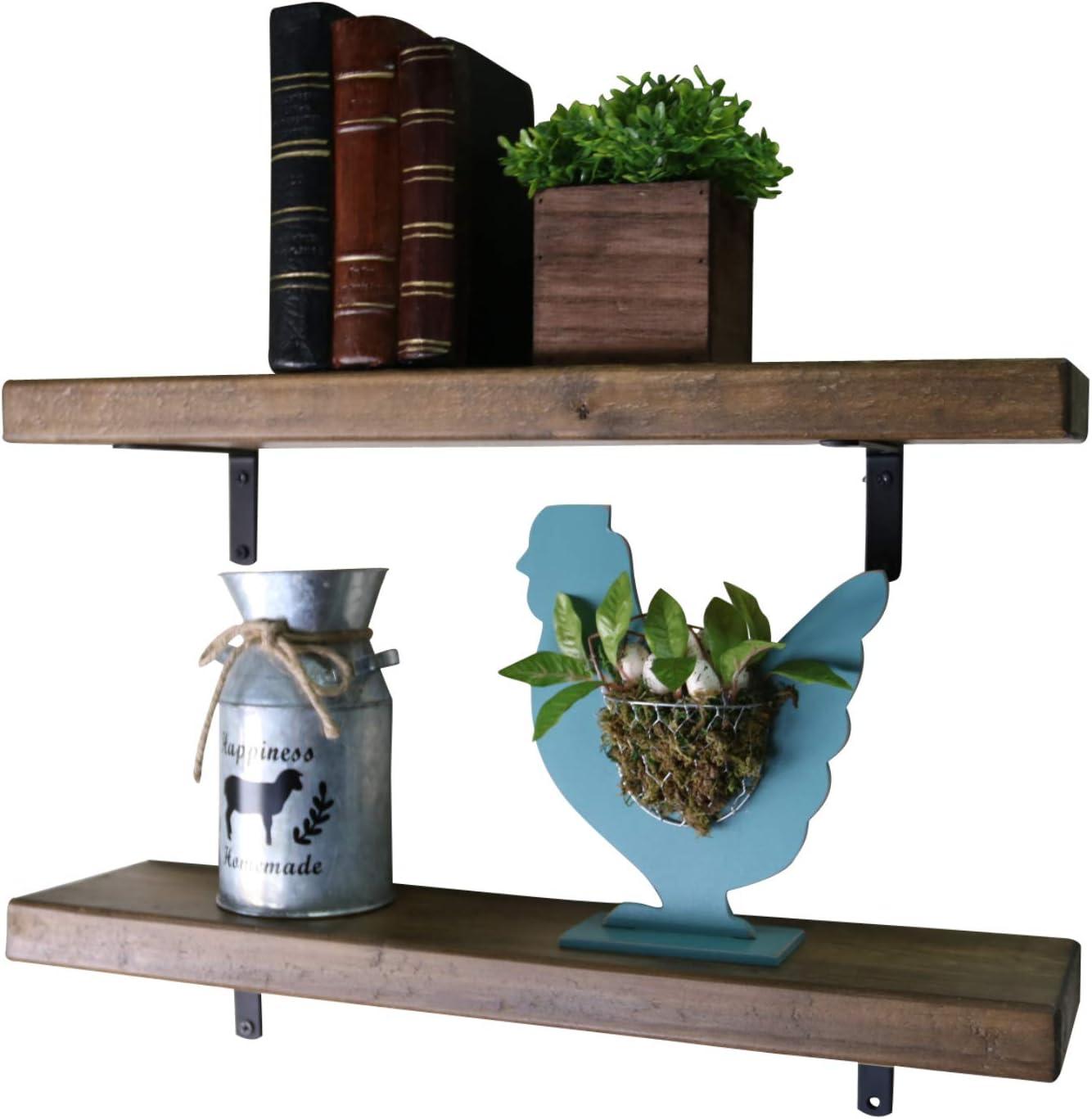 farmhouse decor shelf storage Floating Shelf with divider and sliding doors rustic home decor floating media console wood shelf