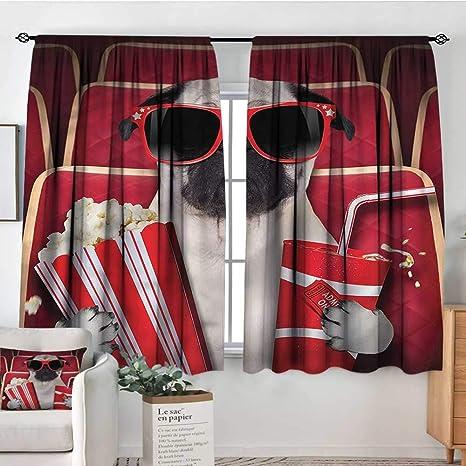 Amazon.com: PriceTextile Pug, cortina para habitación de ...