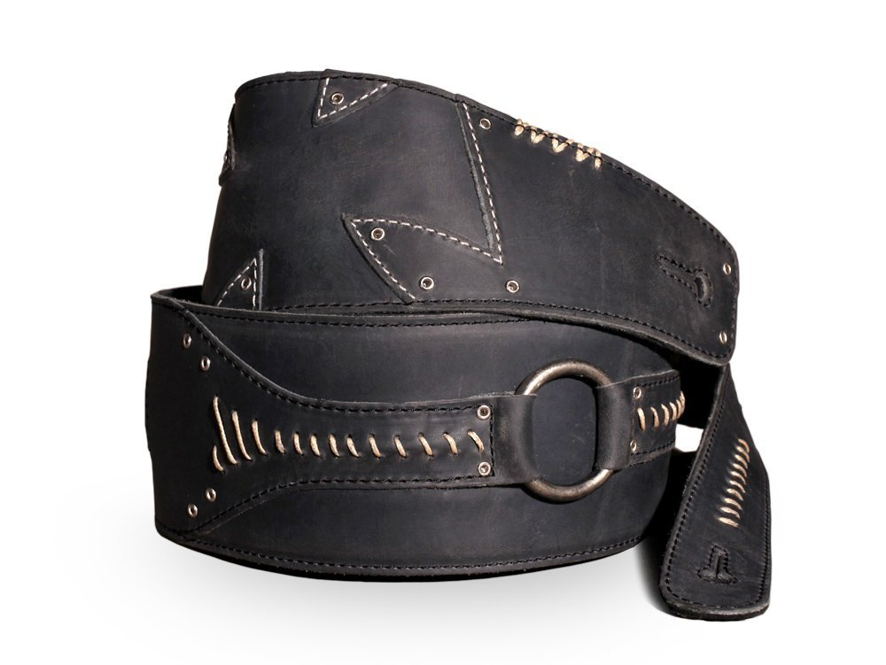 Anthology Gear ''No Quarter'' Full Grain Leather Guitar Strap For Electric, Acoustic, and Bass Guitars