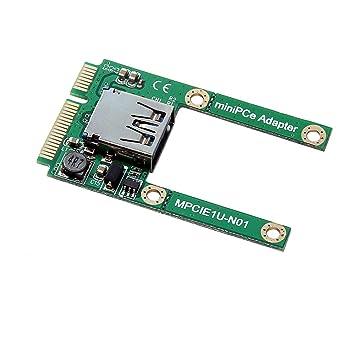 Docooler Tarjeta adaptadora Mini PCI-E a USB 2.0 Tarjeta ...
