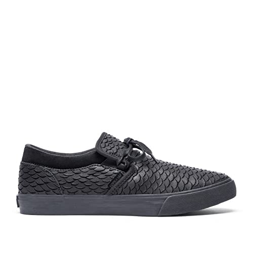 a23ab39f85d7 Supra Cuba Mens Low Top Trainers - Black-12  Amazon.co.uk  Shoes   Bags