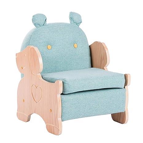 Amazon.com: Sofá pequeño para niña, con estructura de madera ...