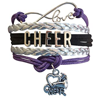 amazon co jp purple cheer bracelet girls cheerleading