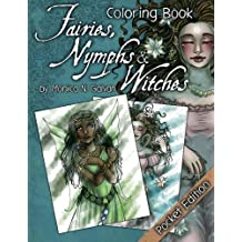 Fairies, Nymphs & Witches Coloring Book (Pocket Edition): Pocket Edition (Enchanted Colors) (Volume 2) by M?nica N. Galv?n (2015-07-13)