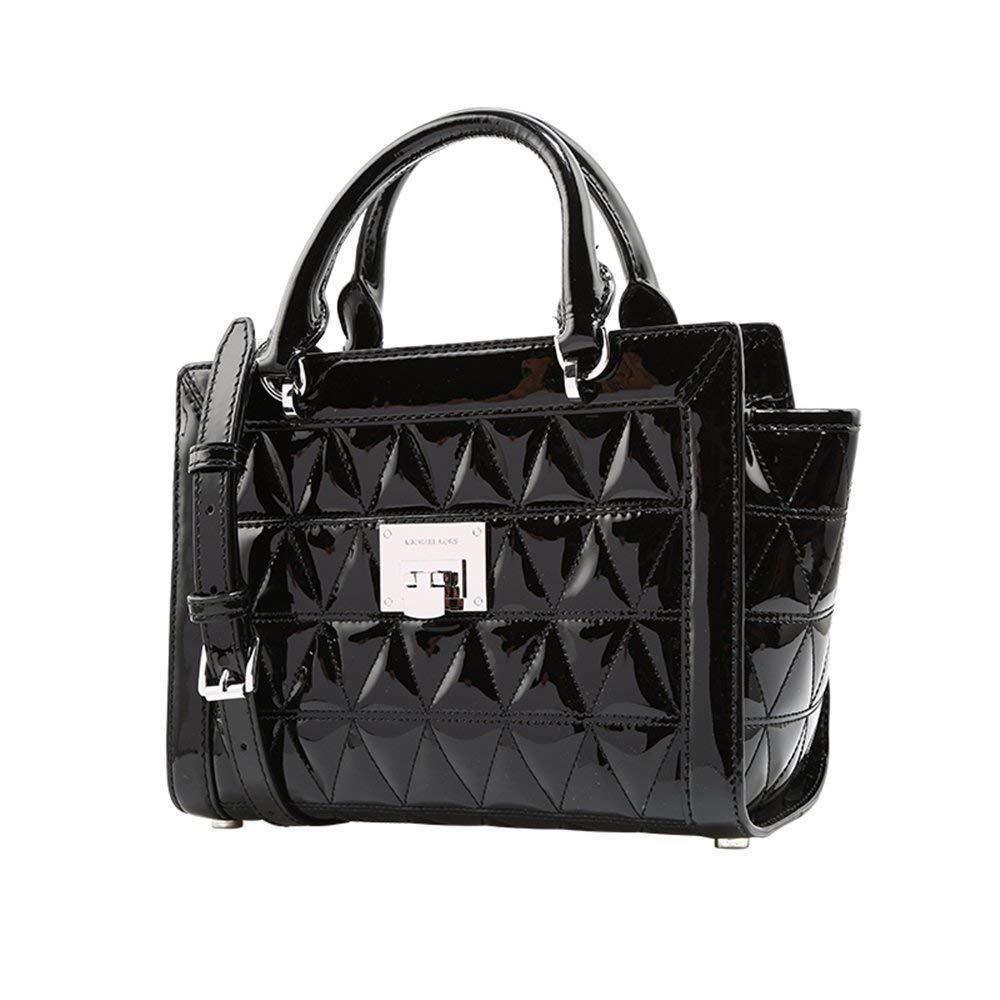 7a30556120e0 Michael Kors Vivianne Small Leather Messenger Black 35T8SVAM1A  Handbags   Amazon.com