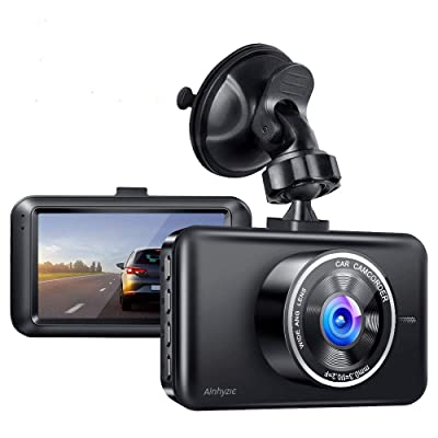 Dash Cam, AINHYZIC Dash Camera 1080P Full HD 3 Inch Screen Car Driving Recorder for Cars Super Night Vision, 170°Wide Angle, Loop Recording, WDR, G-Sensor, Parking Monitor, Motion Detection: Car Electronics