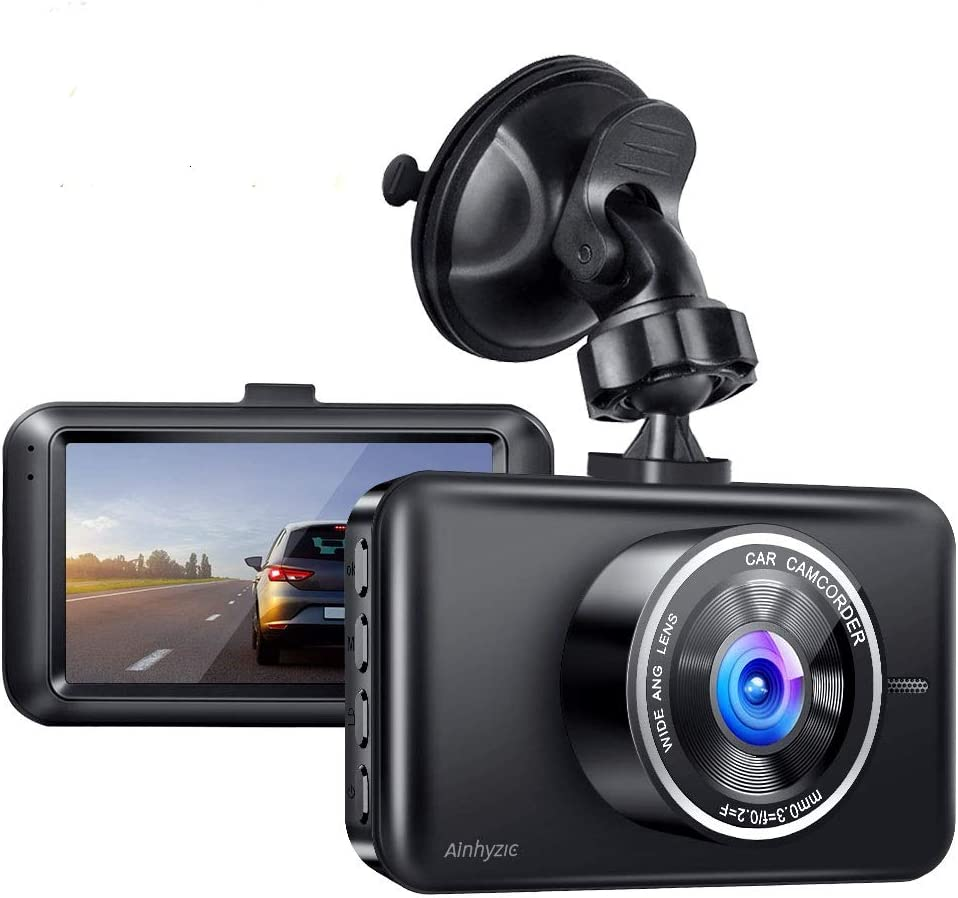 Dash Cam, AINHYZIC Dash Camera 1080P Full HD 3 Inch Screen Car Driving Recorder for Cars Super Night Vision, 170°Wide Angle, Loop Recording, WDR, G-Sensor, Parking Monitor, Motion Detection