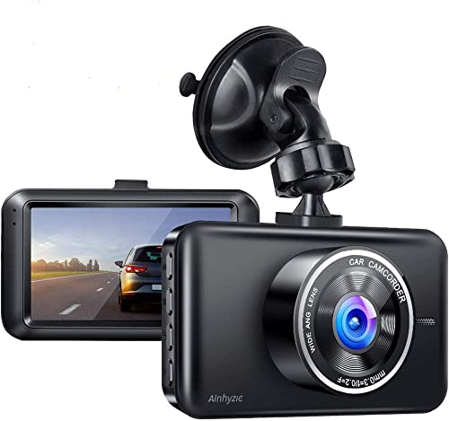 Dash Cam, AINHYZIC Dash Camera 1080P Full HD 3 Inch Screen Car Driving Recorder for Cars Super Night Vision, 170 Wide Angle, Loop Recording, WDR, G-Sensor, Parking Monitor, Motion Detection