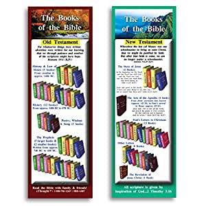 Bible Verse Cards, by eThought - The Books of the Bible - Pack of 25 - Learn the Books of the New Testament and Old Testament