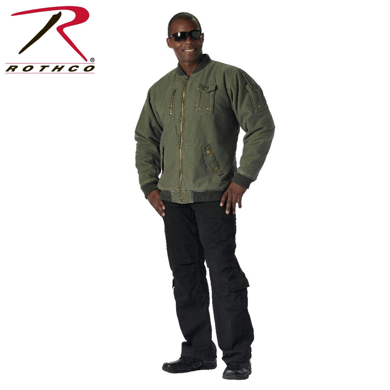 Rothco Cwu-99E Enhanced Vintage Flight Jacket, Olive Drab, X-Large