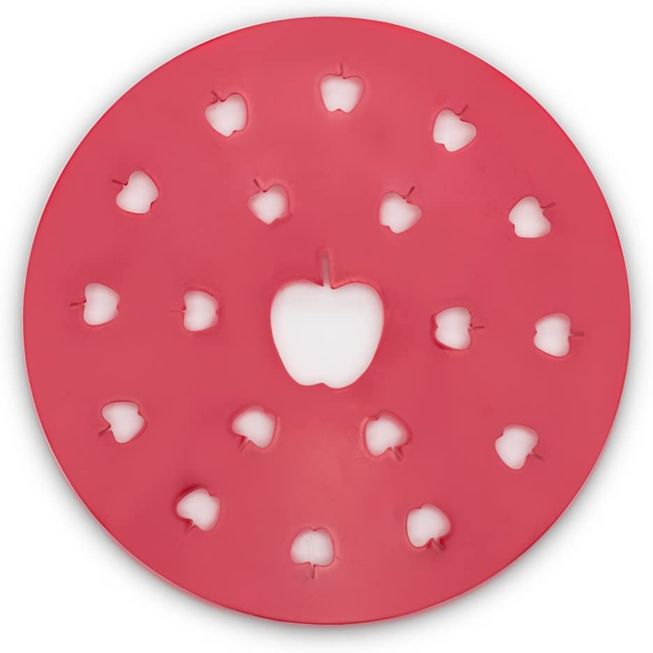 Fox Run Apple Pie Top Cutter, Plastic, Red
