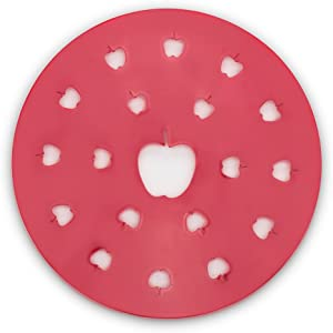 Fox Run Apple Pie Top Cutter, Plastic, Red