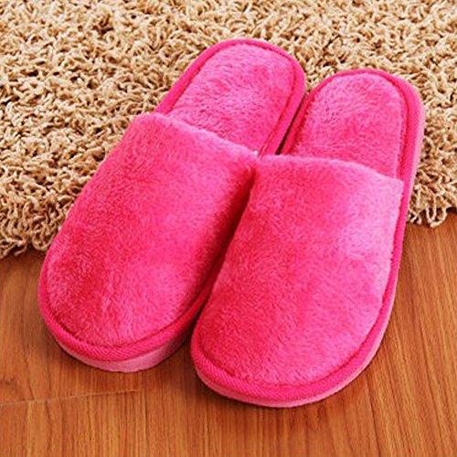 37 39 Inverno nbsp;da Indoor Morbido Donna Rosa Cotone Lungo Scarpe Confortevole Comodi Peluche Zak168 Caldo Antiscivolo Pantofole YaZdwYq