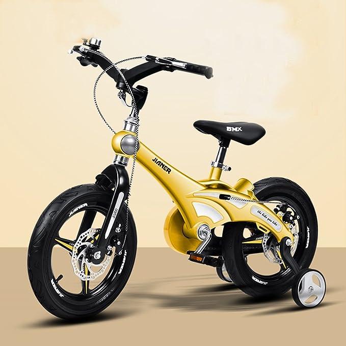 Niñas Bicicleta Niñas 12/14/16 pulgadas Cochecito de bebé Bike Mountain Bike (Color : Amarillo , Tamaño : 16 Inches) : Amazon.es: Hogar